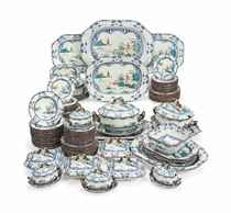 AN EXTENSIVE SPODE STONE-CHINA DINNER-SERVICE