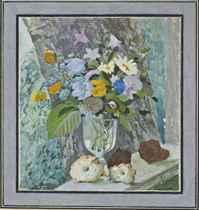 Miniature. Bouquet of flowers