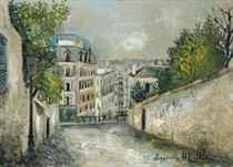 Rue du Mont-Cenis à Montmartre