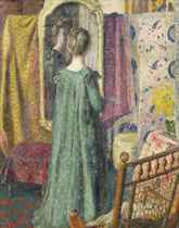 Lady in front of a mirror