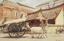An ox-drawn cart, Surabaya