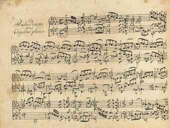 BACH, Johann Sebastian (1685-1750). Dritter Theil der Clavier Übung bestehend in verschieden Vorspielen über die Catechismus- und andere Gesaenge, vor die Orgel. [Leipzig: for the author, 1739].