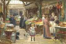 A French food market
