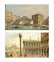 The Rialto Bridge, Venice; and The Molo, Venice