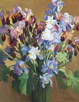 Iris - grown and painted by the artist