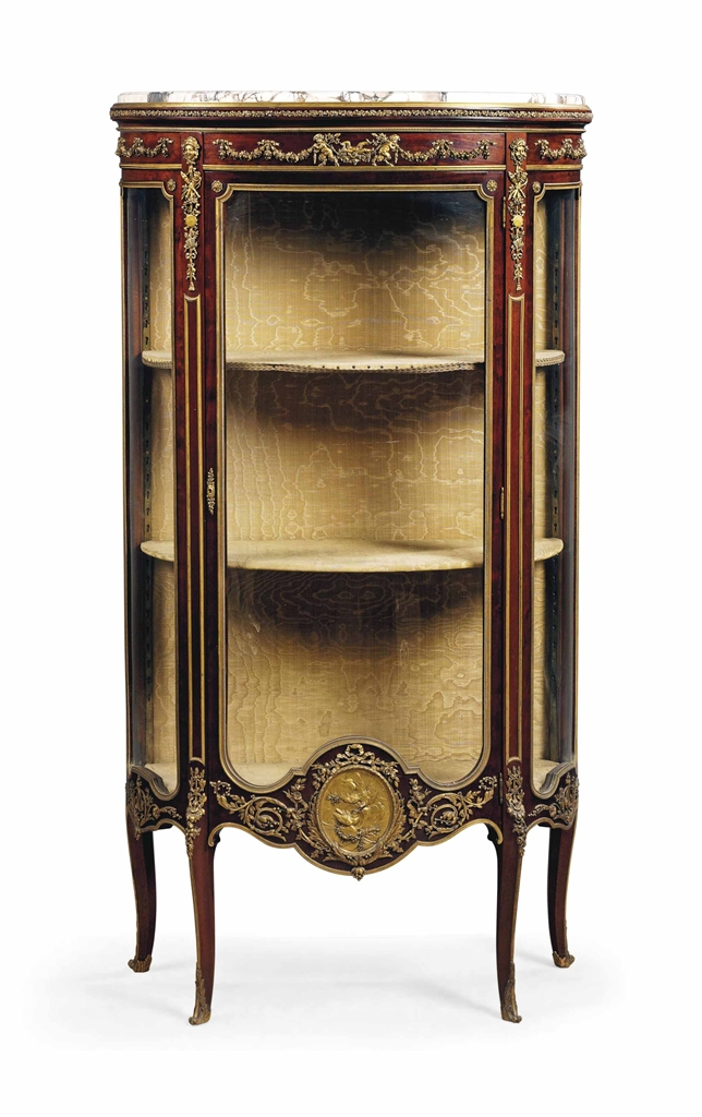 a french ormolu mounted mahogany vitrine cabinet by fran ois linke index number 239 paris. Black Bedroom Furniture Sets. Home Design Ideas