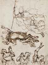 Saint Ubalde, évêque de Gubbio, libérant des démons un possédé