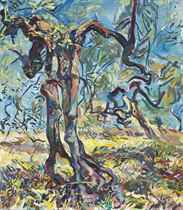 The olive grove (recto); Trees in the park (verso)