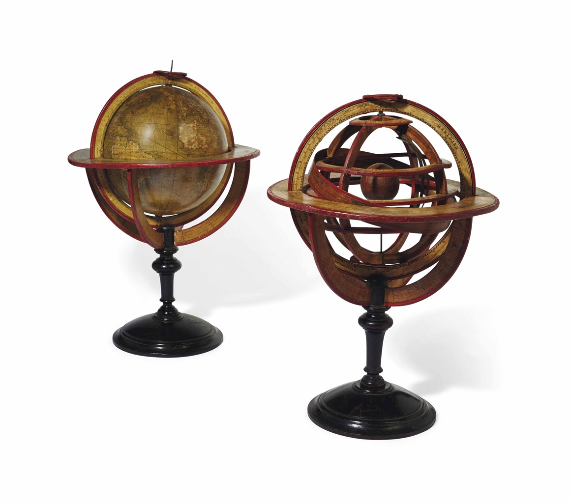 globe terrestre et sphere armillaire le globe signe delamarche 1816 all other categories of. Black Bedroom Furniture Sets. Home Design Ideas