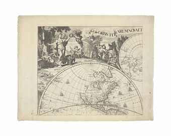 WIT, Frederick de (1630-1706) and Gerard VALCK (1652-1726). Orbis Terrarum Nova et Accurata Tabula, Amsterdam: Gerard Valck, [c. 1690-1700].