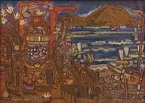 Sanur and Beyond: Le Mayeurs Sea Shrine with View of Gunung Agung
