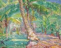 Palmtrees on Faaa, Tahiti