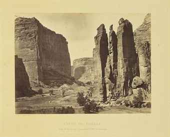 [WHEELER SURVEY]. -- Timothy O'SULLIVAN (ca 1840-1882) and William BELL (1830-1910), photographers. Photographs Showing Landscapes, Geological and Other Features of Portions of the Western Territory of the United States, Obtained in Connection with Geographical and Geological Explorations and Surveys West of the 100th Meridion. Seasons of 1871, 1872 and 1873. [Washington, D.C., ca 1875].