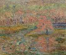 A Spring Landscape (recto); A Harbor Scene (verso)