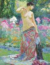 An odalisque in a garden
