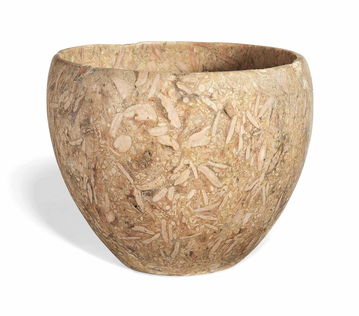 AN EGYPTIAN PINK NUMMULITIC LIMESTONE BOWL | EARLY ... |Egyption Bowls