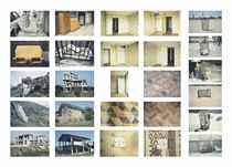 Furniture (i) Mattress - Athenes - 1993 (ii) Wardrobe and Bed - London - 1992 (iii) Three Piece Suit and Radiator - London - 1992 (iv) Bath Tub - 1997   Constructions (v) Quarry - Carrera - 1998 (vi) (ix) Construction - Peloponnese - 1993 (vii) Concrete Buttress - Country Clare - 1996 (viii) Brick Buttress - Arezzo - 1998  (x) Construction - Caprese Michaelangelo - 1998  Rooms xi)-(xiv) Room - London - 1996   Door (xv) Door - London - 1996   Floors (xvi) - (xviii) Lino - London - 1996    Light Switches (xix) (xx) Switch - London - 1996    Bins xxi)(xxiv) Bin - Coney Island - 1998 (xxii)(xxv) Bin - Manhattan - 1997 (xxiii) Bin - Umbria - 1998 (xxvi) Bin - Cinque Terre - 1998
