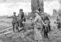A field of great sorrow and of greater glory: The battle ground of Ypres - Visiting the old battlefields of the Western Front the scene by the ruined cloth hall of Ypres