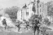 """""""Vive la France!"""": The rallying cry of the French Infantry at Grivesnes: The splendid defense of the chateau and park of Grivesnes by the French - The fight round the house"""