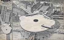 "A vision of the future - An airport for helicopters in the heart of London: The proposed plan for a ""helidrome"" at Charing Cross diagrammatically explained (illustrated); and As it will be—London's new airport at Gatwick, which was to be opened by the Queen on June 9: A drawing showing the easy access to road and railway"
