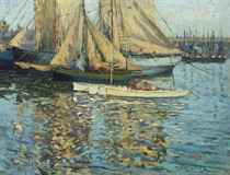 Fishing boats in the harbour, St Ives