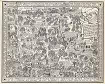 PETER PAN MAP OF KENSINGTON GARDENS