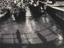 My shadow in a Graacht, Amsterdam, 1933