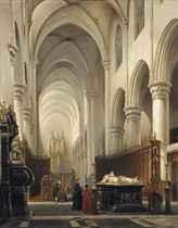 Kerk van Hooghstraeten: the interior of the church of Hoogstraten, Belgium