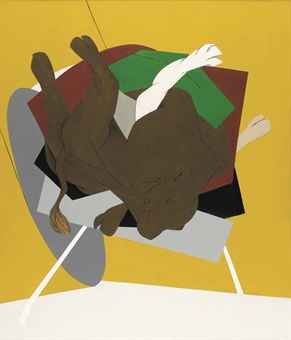 Tyeb Mehta (Untitled) Falling Bull Purchased on Christie's LIVE or $2.8 million