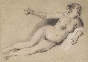 A reclining female nude