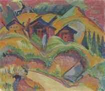 Drei Hütten am Hügel, Rote Hütten