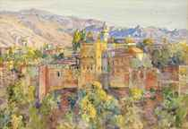 The Alhambra from the artist's studio, early evening