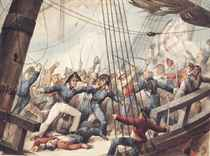 "The boarding and taking of the American frigate ""Chesapeak"" by HM Frigate ""Shannon"", 1st June 1813"