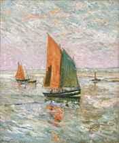 Bateaux de pêche à l'entrée du Croisic