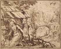 Marie-Madeleine pénitente dans un paysage