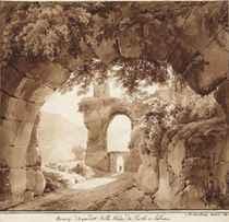 Vue de l'aqueduc Anio Novus entre Tivoli et Subiaco