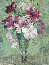 Summer blooms in a vase