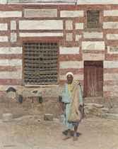 An Arab outside his house