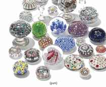 A COLLECTION OF MILLEFIORI PAPERWEIGHTS