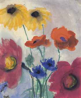 emil nolde 1867 1956 sommerblumen 20th century. Black Bedroom Furniture Sets. Home Design Ideas