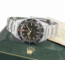 Rolex A rare stainless steel automatic wristwatch with sweep