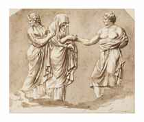 A relief after the antique: A marriage scene