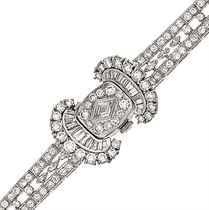 A lady's diamond cocktail watch, by Hamilton & Co
