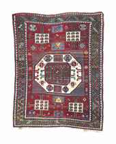 An antique Kazak Karatchopf rug