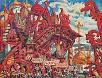 Stage design for 'The Legend of the invisible city of Kitezh'