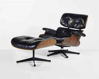 Charles 1907 1978 and ray eames 1912 1988 39 lounge chair 670 39 et son repose pieds le - Charles et ray eames chaise ...