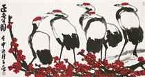 Plum blossoms and Cranes