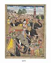 TWO FOLIOS FROM AN ILLUSTRATED MUGHAL EPIC