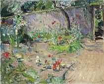 Gartenecke in der Sonne