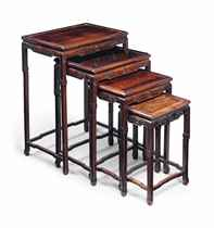 A SET OF CHINESE HONGMU QUARTETTO TABLES